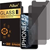 Ailun Privacy Screen Protector Compatible with iPhone 11 Pro Max/iPhone Xs Max 6.5 Inch 2 Pack Anti Spy Tempered Glass…