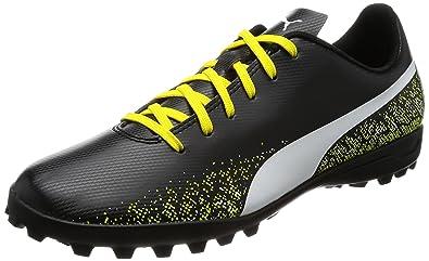 Puma Men's Truora Tt Puma Black-Puma White-Blazing Yellow Football Boots -  10