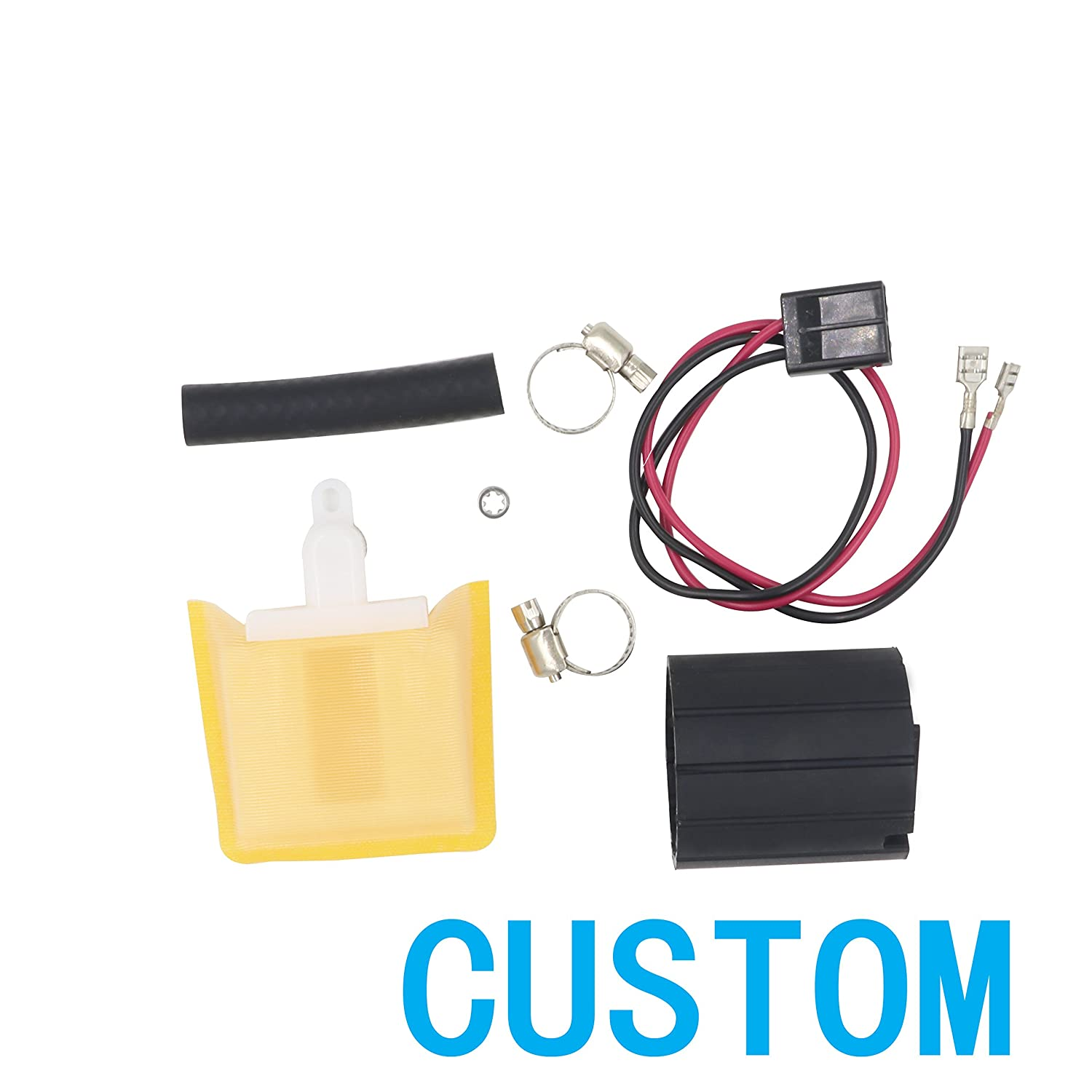 AUTOTOP Electric Fuel Pump Strainer /& Connect Wire /& Clamps /& Gasket /& Cover E2068