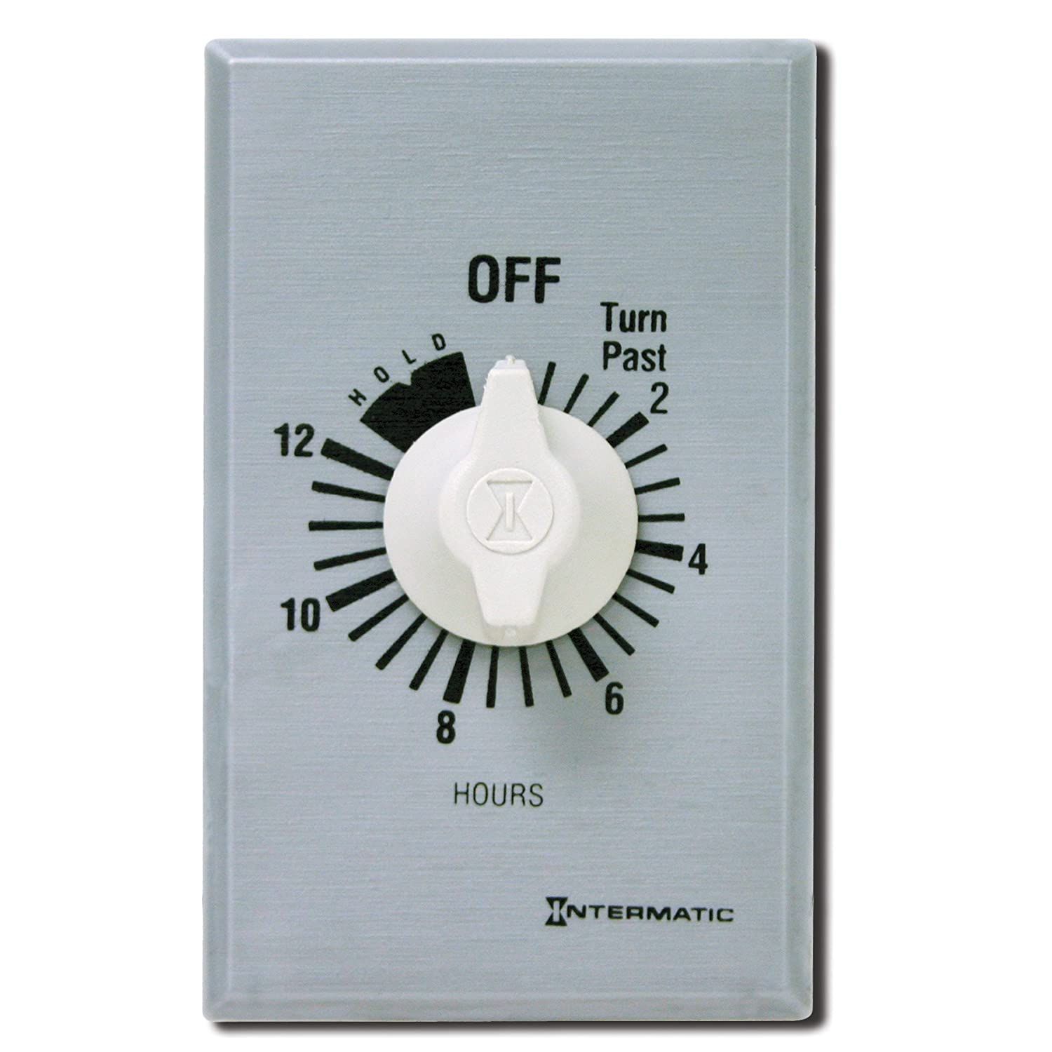 Intermatic FF412H 12-Hour Spring Loaded Wall Timer, Brushed Metal ...