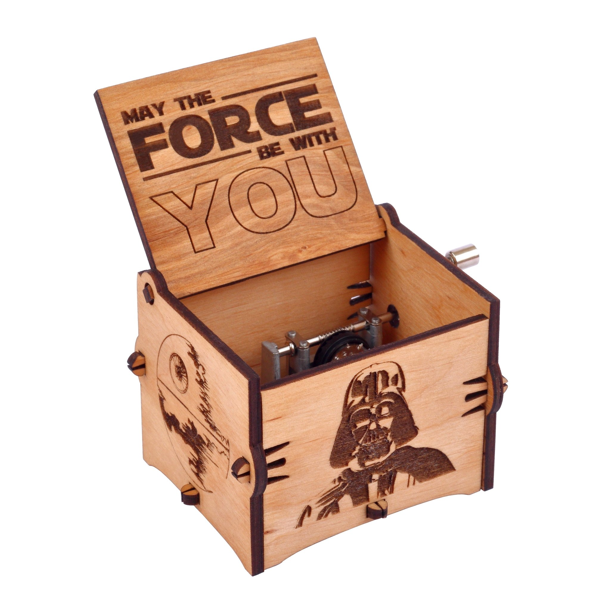 Enjoy The Wood Star Wars Music Box Wooden Star Wars Fans Custom Gift for Boyfriend Gift for Brother by