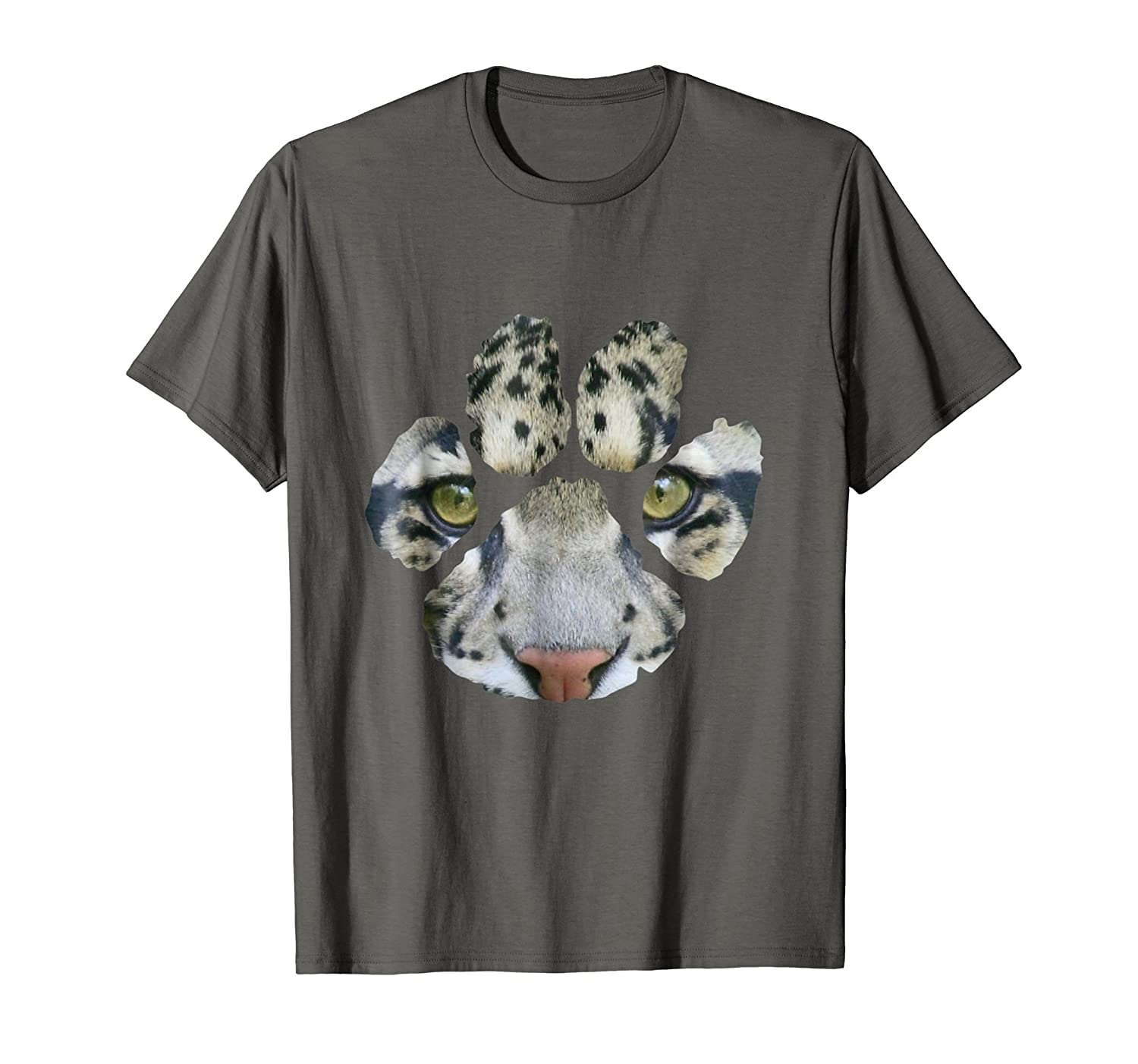 Awesome Clouded Leopard Paw Print T-Shirt - Mens/Womens/Kids-AZP