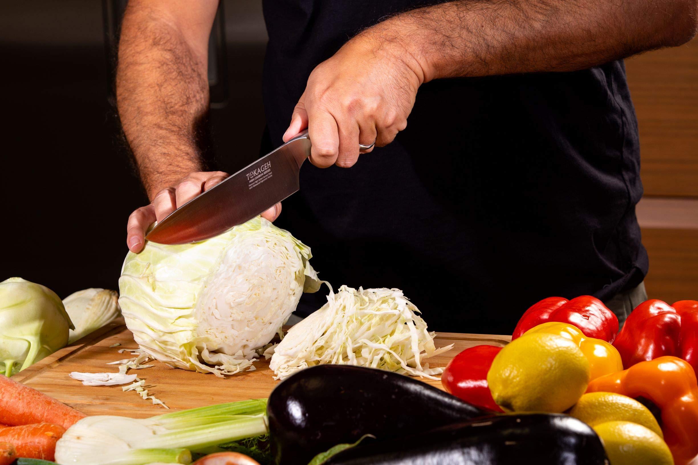 TOKAGEH Chef Knife 8 inch - German High Carbon Steel Pakka Wood Handle by TOKAGEH (Image #2)