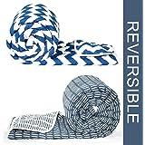 Divine Casa Microfibre Comforter/Blanket/Quilt/Duvet Lightweight, All Weather, Reversible Single Comforter Set of 2, Blue - Abstract (110 GSM)