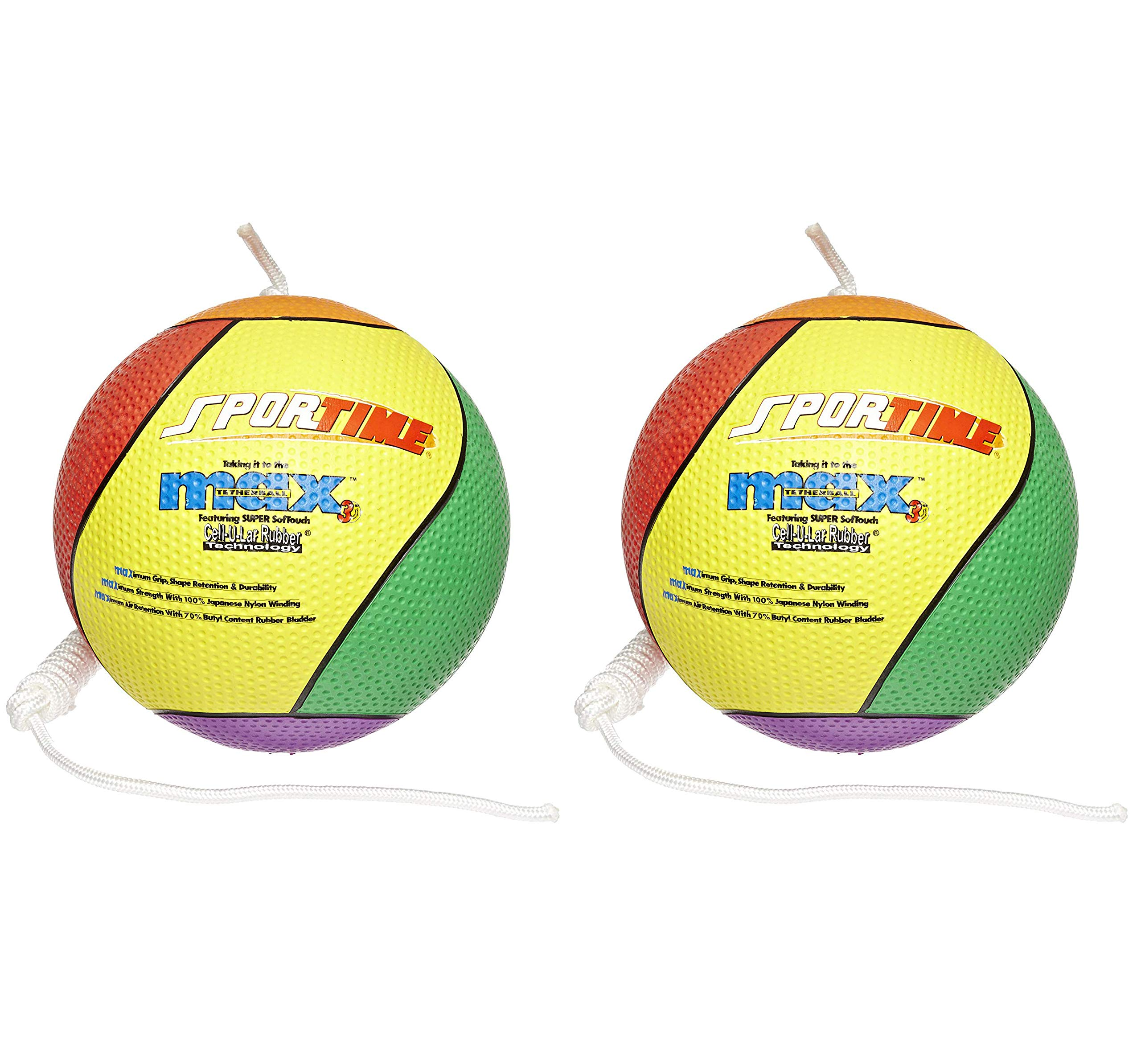 SportimeMax Tetherball, Multiple-Color (Тwo Рack) by Sportime