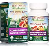 Host Defense, MyCommunity Capsules, Advanced Immune Support, Mushroom Supplement with Lion's Mane, Reishi, Vegan, Organic, 30