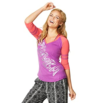 Zumba Fitness® Z1T01047 - Camisetas, color morado, talla XL