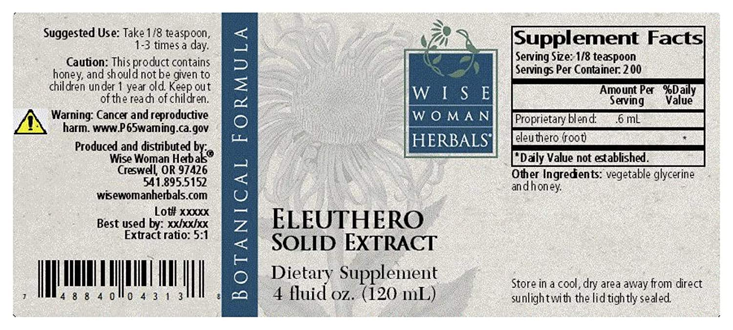 Amazon.com: Wise Mujer Herbals – Eleuthero Solid Extracto, 4 ...