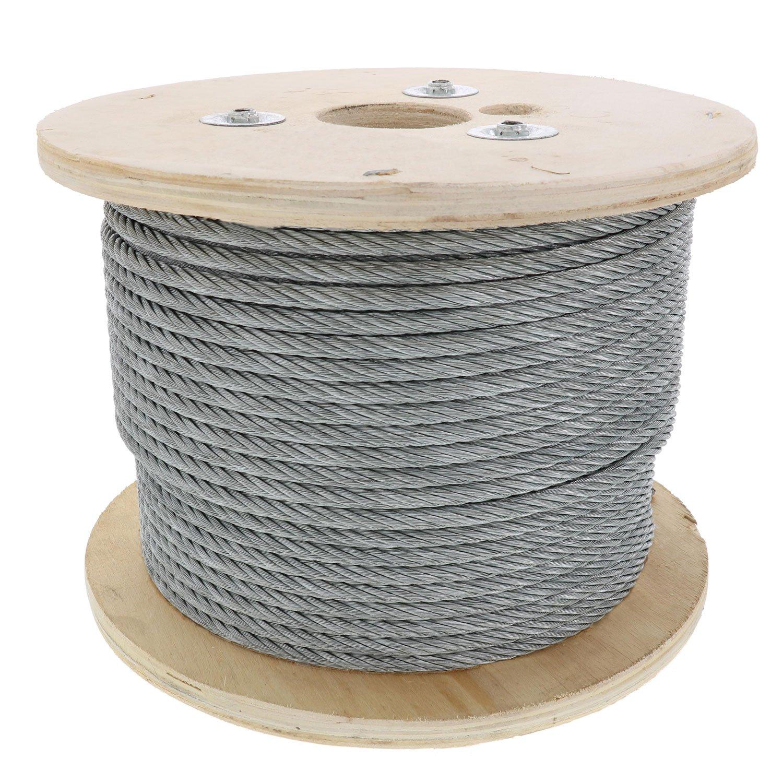 Pro Strand 3/8'' X 500', 7x19, Galvanized Cable Reel