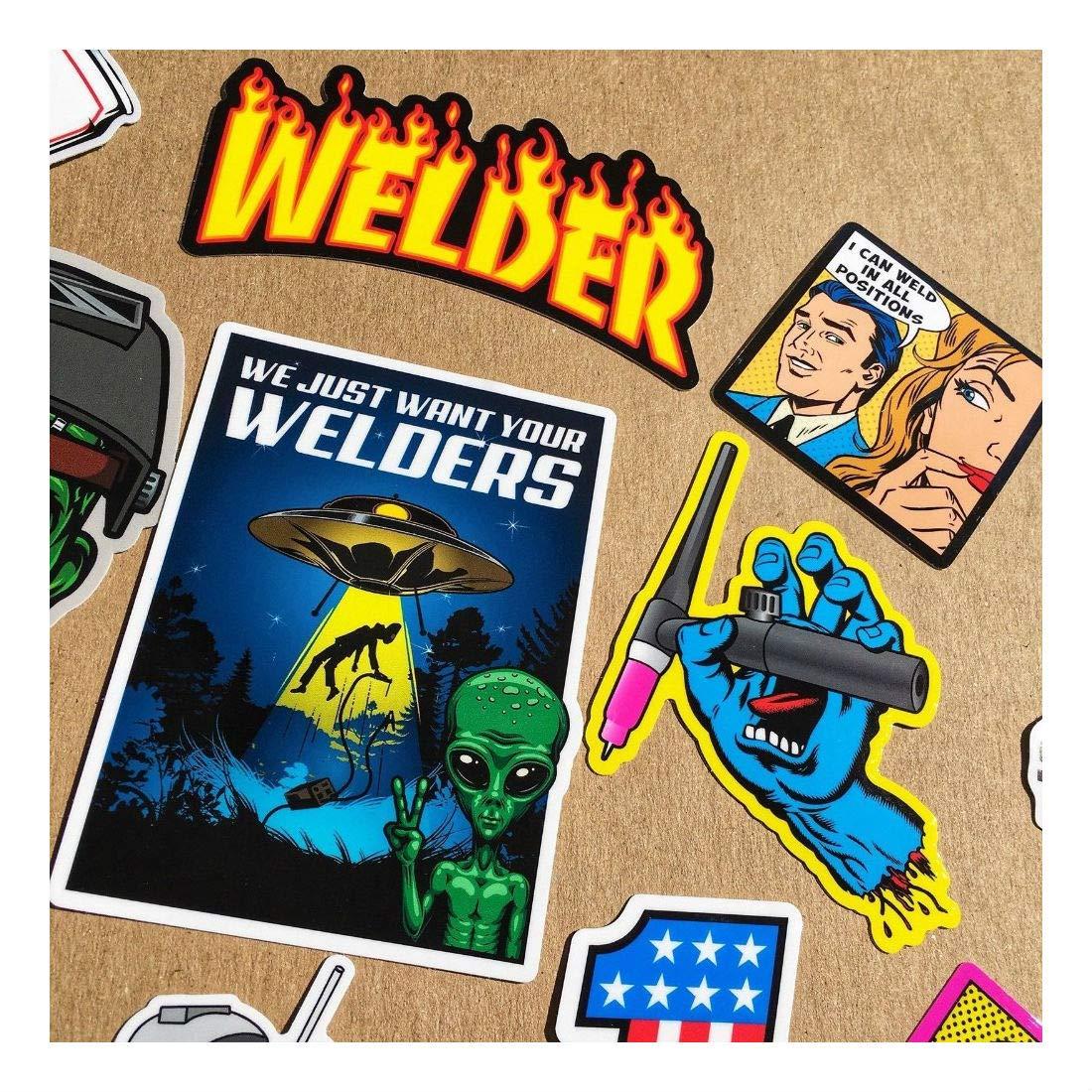 New Welder 40+ Hard Hat Stickers Hardhat Sticker & Decals, Welding Helmet, Hood by Unknown (Image #4)