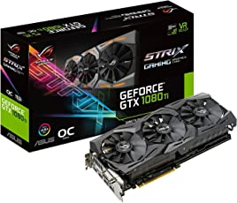 Asus ROG-STRIX-GTX1080TI-O11G-GAMING Graphic Card GeForce 11GB GDDR5X, VR Ready, 5K HD Gaming, HDMI, DisplayPort, DVI, OC Edition