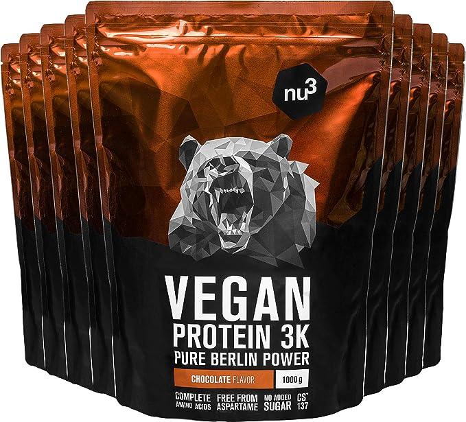 nu3 Proteína vegana 3K - Paquete de 9kg - 70% de proteína a ...