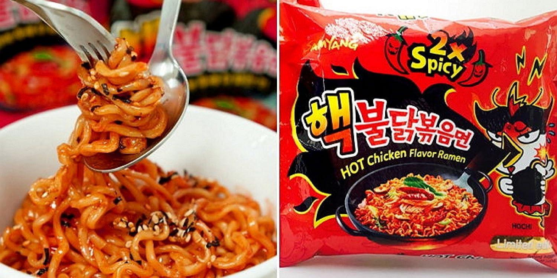 Samyang Bulldark Spicy Chicken Roasted Noodles 493 Oz Nuclear 2x Grocery Gourmet Food