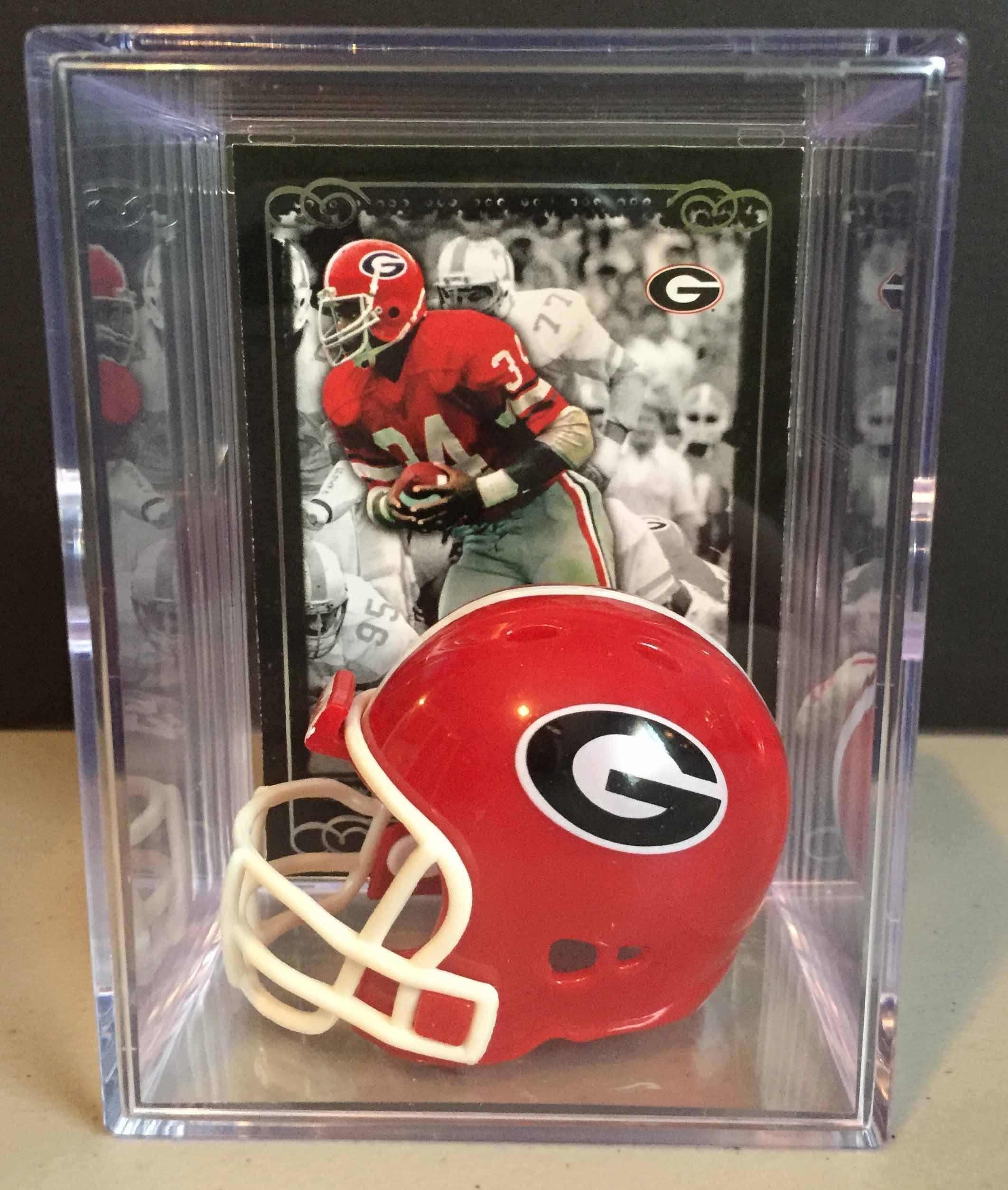 Georgia Bulldogs NCAA Helmet Shadowbox w/ Herschel Walker card