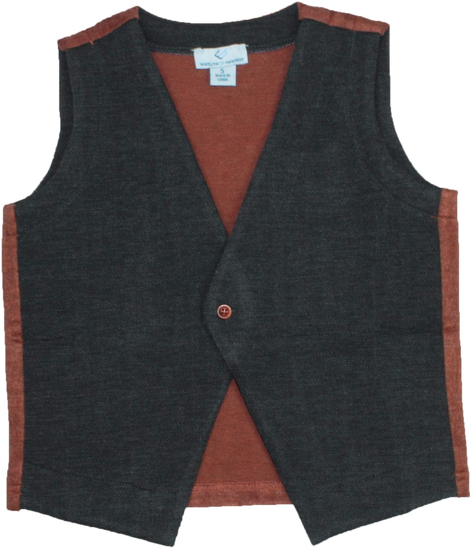 Whitlow & Hawkins Boys Vest - 6138 - Charcoal, 7