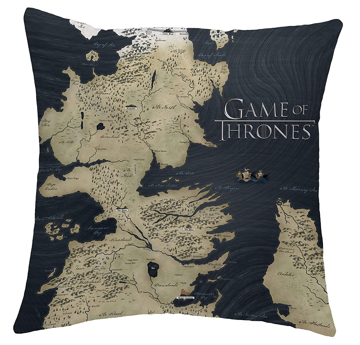 Game of Thrones Cushion (Official Merchandise) | Westeros Map House Game Of Thrones Map Stark on spooksville map, downton abbey map, narnia map, bloodline map, got map, justified map, jericho map, qarth map, camelot map, walking dead map, a storm of swords map, gendry map, world map, star trek map, guild wars 2 map, clash of kings map, dallas map, valyria map, winterfell map, jersey shore map,