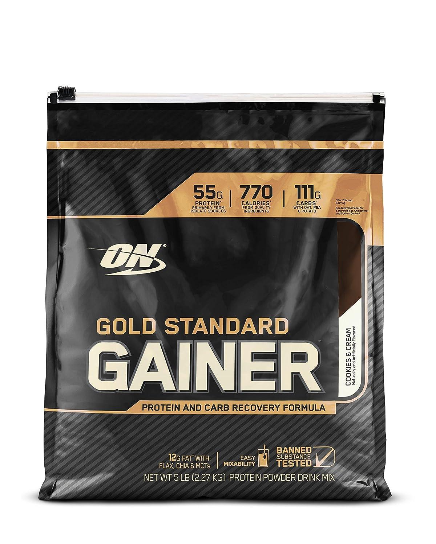ゴールドスタンダードゲイナー 2.27kg (Gold Standard Gainer 5lb) (バニラアイスクリーム) B01LCC1BEI バニラアイスクリーム