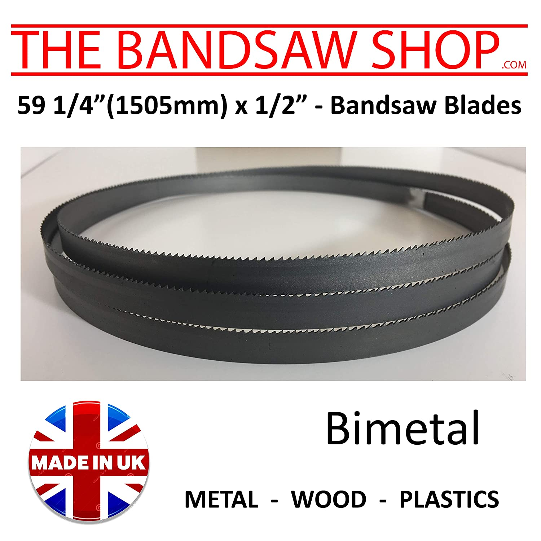59 1/4 (1505mm) x 1/2' (13mm) Bimetal Bandsaw Blades 6-10 - 14-6/10-8/12-10/14 TPI (59 1/4' x 1/2' (6/10 TPI))