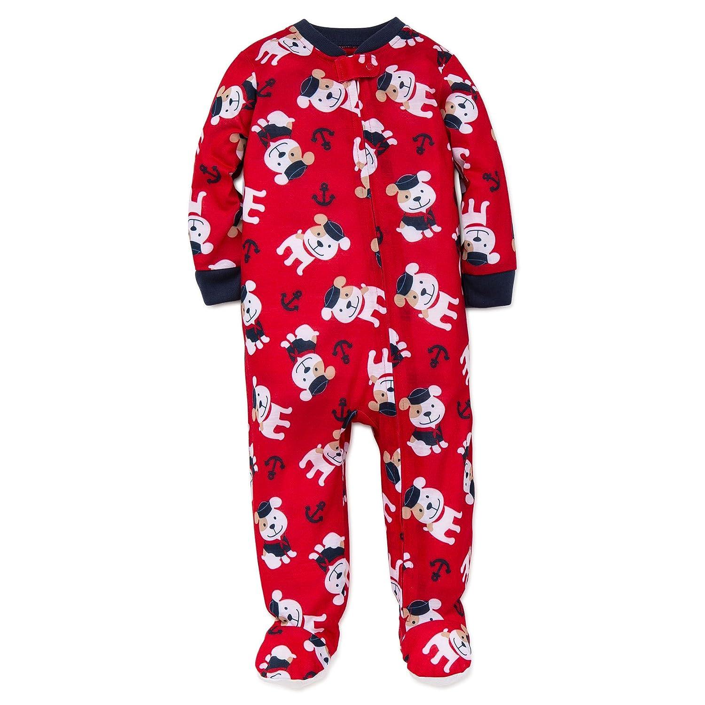 44103490b Amazon.com  Little Me Baby Boys Light-Weight Soft Zip Footie Pajamas ...