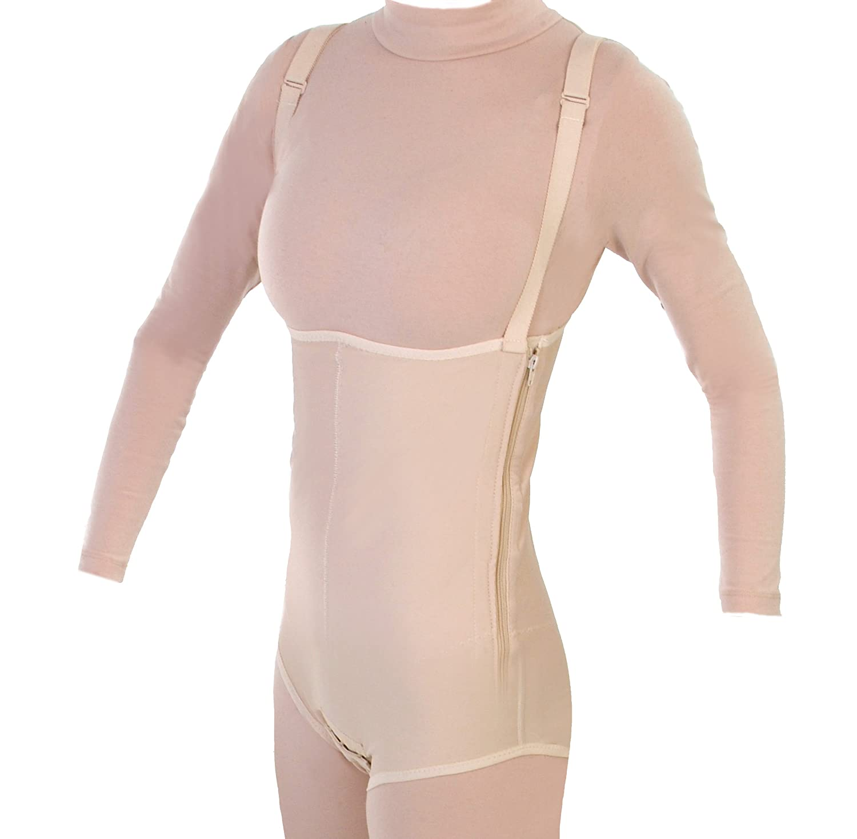 2216ec993 Post Op Tummy Tuck Abdominal Girdle Compression Garment w Suspenders (S37)  at Amazon Women s Clothing store  Shapewear Bodysuits
