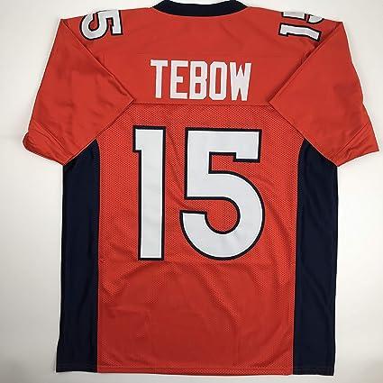 reputable site 01e48 7c1d5 Amazon.com: Unsigned Tim Tebow Denver Orange Custom Stitched ...