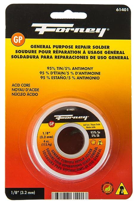 Forney 61401 Lead Free Acid Solder, 1/8