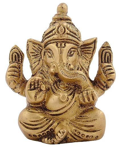 Amazon Com Kapasi Handicrafts Emporium Brass God Ganesha Sittings
