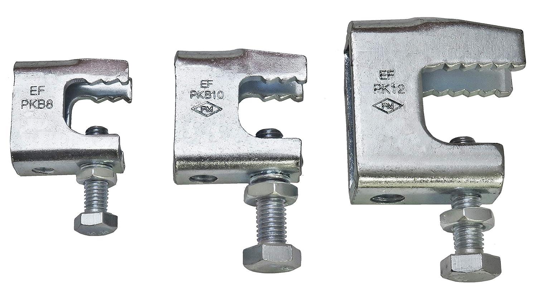 Aufnahmegewinde M8 10 St/ück Tr/ägerklammern Stahl verzinkt