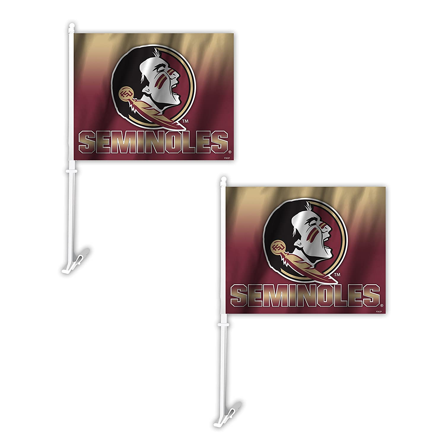 Fremont Die NCAA Florida State Seminoles Ombre Car Flag (2 Pack), One Size, Red Inc 192959801521