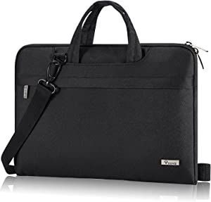 Voova 13 13.3 Inch Laptop Sleeve Carrying Case, Waterproof Computer Shoulder Bag Compatible with 13 Macbook Air/Pro 2020,13.5 Surface Laptop/Book 3/2, Dell XPS 13, HP Acer Chromebook Briefcase, Black