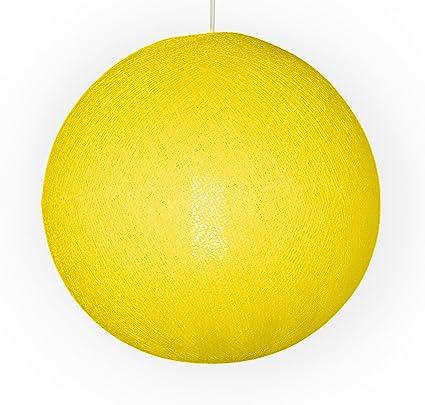 Auténticas Lámparas De Techo Cable & Cotton® con Bola En Color Amarillo - con Una Esfera De 31 Cm De Diámetro Que Iluminará Su Hogar