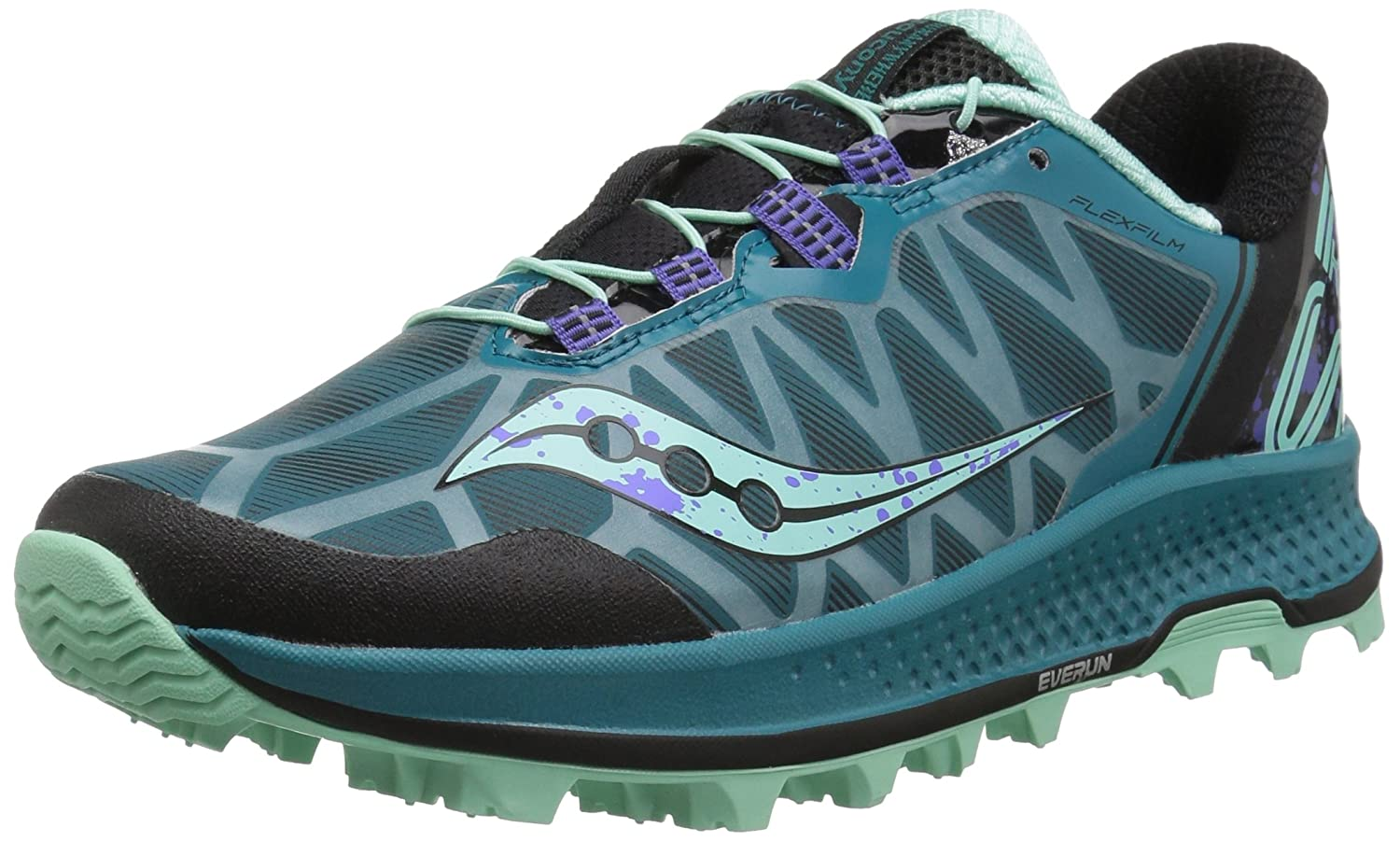 Saucony Women's Koa St Running-Shoes B077Y1LXN1 7 B(M) US|Green/Black/Aqua