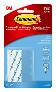 Command Small Clear Replacement Strips, 12 strips (17024CLR-ES)