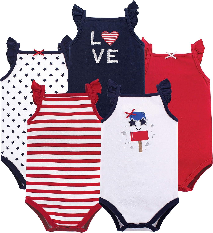 Hudson baby Bambina 10155176 Body Senza Maniche in Cotone Senza Maniche Completo con Maglietta