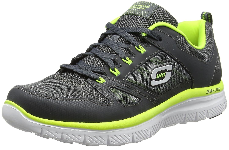 Skechers Flex Advantage, Zapatillas De Deporte Hombre 46 EU|Gris (Charcoal/Lime)