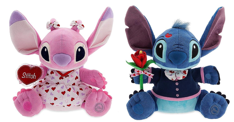 Disney Store Stitch & Angel 14 Valentines Day Plush Set of 2 Blue & Pink by Disney Interactive Studios: Amazon.es: Juguetes y juegos