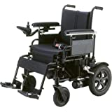 """Drive Medical Cirrus Plus Folding Power Wheelchair with Footrest and Batteries, Black, 18"""""""