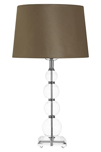 Premier Housewares Luma Pearl 4 Glass Ball Crystal Cut Table Lamp