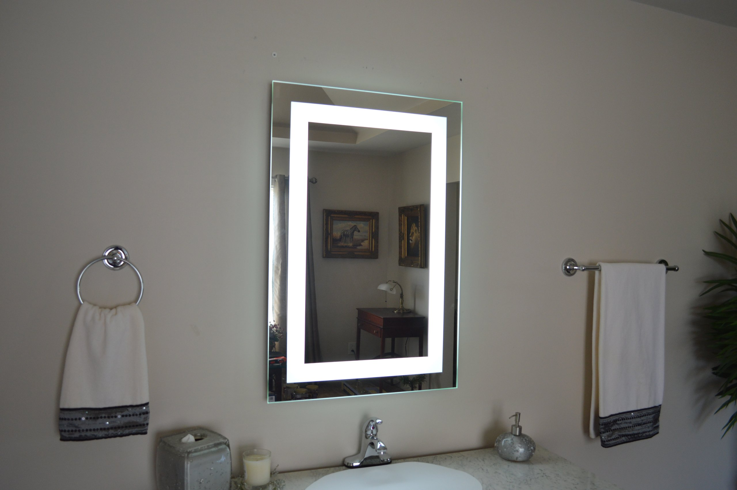 Wall Mounted Lighted Vanity Mirror LED MAM82836 Commercial Grade 28'' wide x 36'' tall