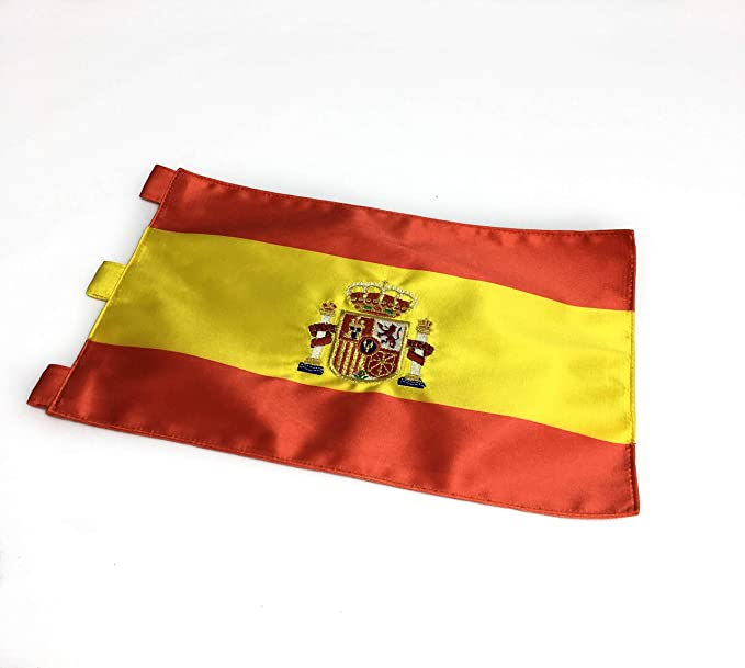 ABBE Global Bandera de Mesa Bordada España 20x30 y mástil: Amazon ...