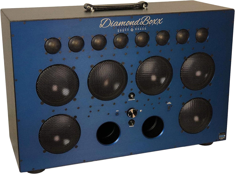 DiamondBoxx Model XL9 Blue - The Biggest Bass in Wireless Audio