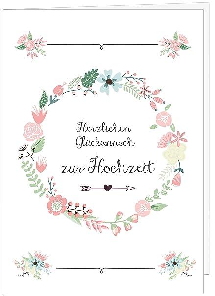 Hochzeitskarte Glückwunsch A4 Hochzeitskarte Groß Sanfte Farben Große Hochzeitskarte Edel Hochzeitsdeko Von Sophies Kartenwelt