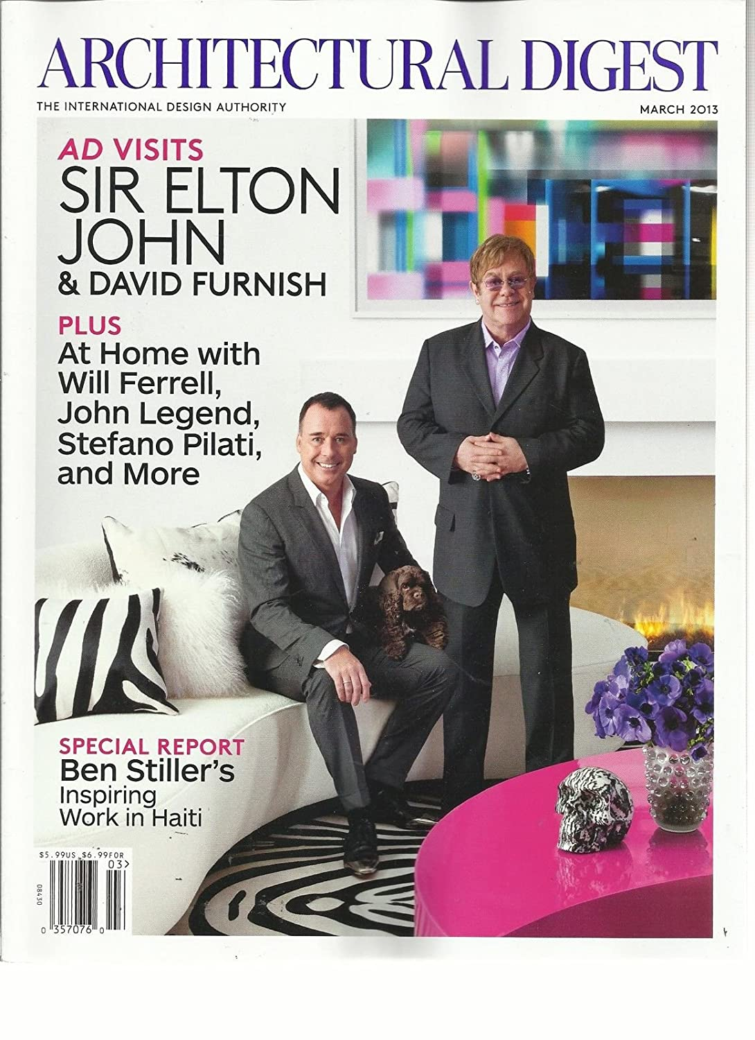 ARCHITECTURAL DIGEST, MARCH, 2013 (THE INTERNATIONAL DESIGN AUTHORITY) s3457
