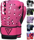 RDX Gants de Boxe Enfant 4oz, 6oz Muay Thai kickboxing Junior Gant Sac Frappe Sparring Entrainement Mitaines Competition Maya Hide Cuir Kids Boxing Gloves