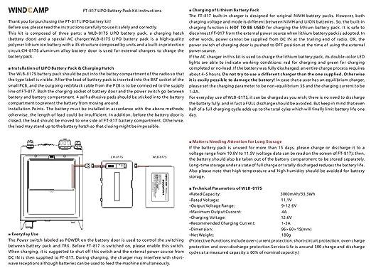 WINDCAMP 3000 mAh polímero de litio recargable + Cargador + ...