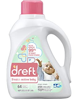 Amazon dreft stage 1 newborn hypoallergenic liquid baby dreft stage 2 active hypoallergenic liquid baby laundry detergent he 100 ounces solutioingenieria Image collections