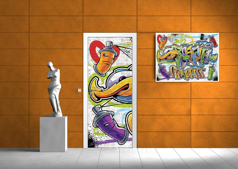 Vließ Tür Türfototapeten Tapete Buntes Graffiti 320209/_VETMVT
