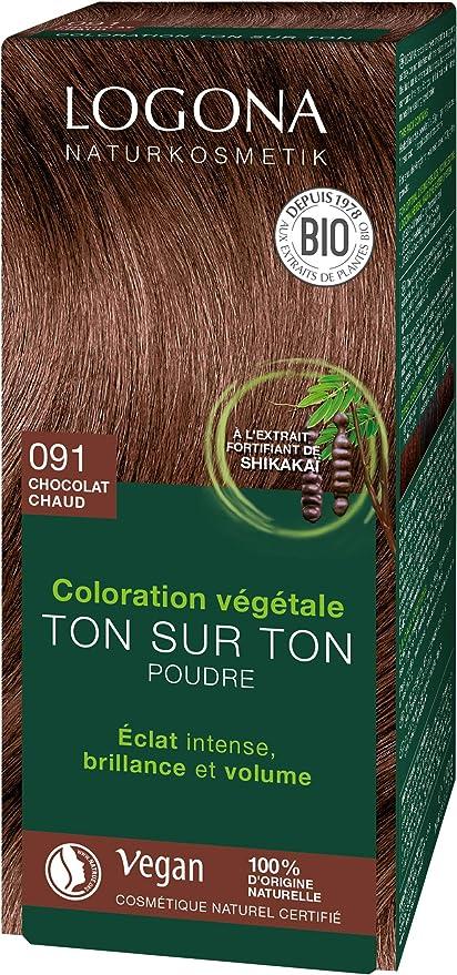 Logona TP-4017645042438_839-0135 Colorante Vegetal Castaño Chocolate 091, 100 gr, 1 Unidad
