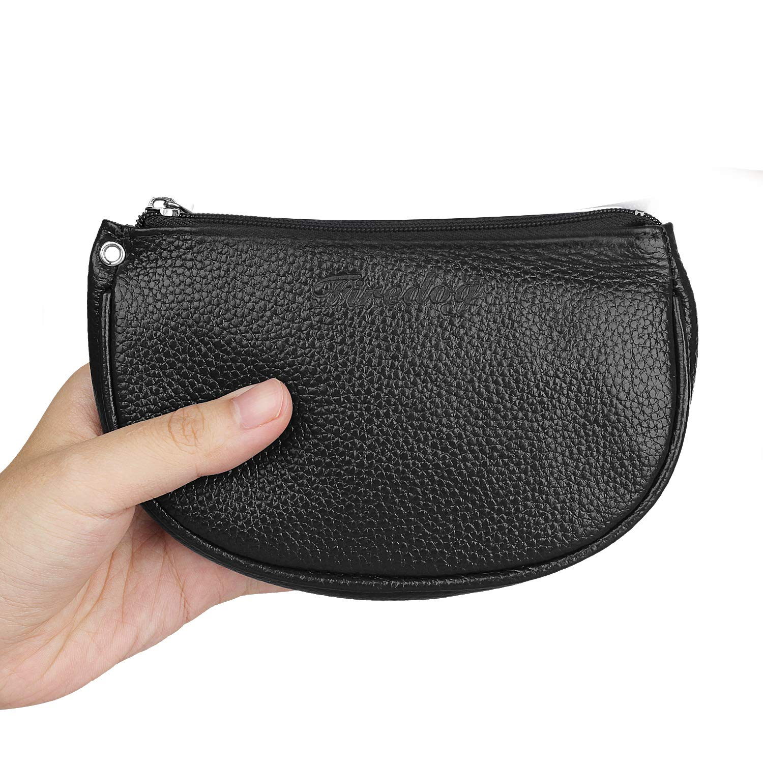 """Firedog 2nd Generation Tobacco Pouch for Smoking Pipe Rolling Cigarette Leather Case Bag with Rubber Lining to Preserve Freshness(No Gap at end) Middle Size (3.75'' Height X 6.25"""" Width) Black"""