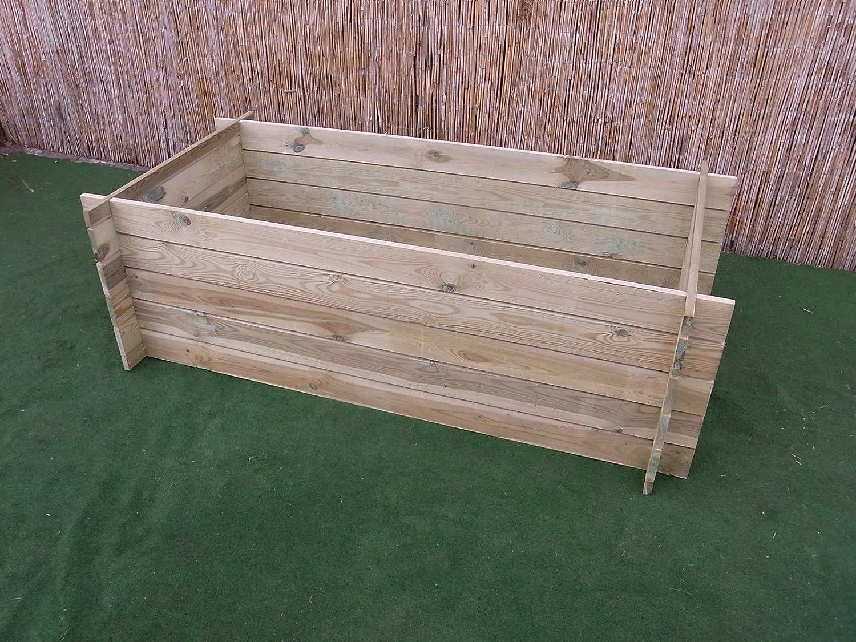 Contenedor de madera para compostaje o cama de siembra elevada ...